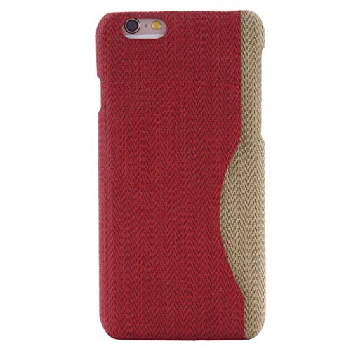iPhone Case Cover Mischen Sie und Match-Farben-Abdeckungs-Fall mit Kartenhalter für iPhone 6 Plus 6S Plus ( Color : Charming Red , Size : IPHONE 6S PLUS ) Charming Red