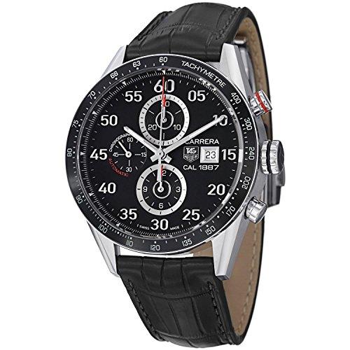 Tag Heuer Carrera Herren 43mm Chronograph Automatikwerk Uhr CAR2A10.FC6235