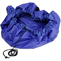 Preisvergleich für JuShen groß Kinder Spielzeug Nylon Aufbewahrungstasche Play Matte Durchmesser 150cm blau