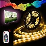LED Streifen LED Strip Band, Vorstek TV Led Lichtband 2m SMD 5050 Led Fernseher Beleuchtung mit USB RF Fernbedienung IP65 Wasserdicht RGB 60 Licht Beleuchtung für Fernseher