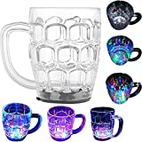 Casotec 7 Oz Automatic Light When Pour Water LED Light Up Drinkware Plastic Tumbler Cups