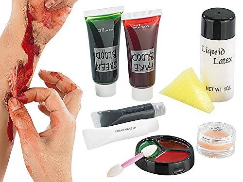 Latex Makeup Set mit Blut und vieles mehr Karneval (Halloween Und Mehr)