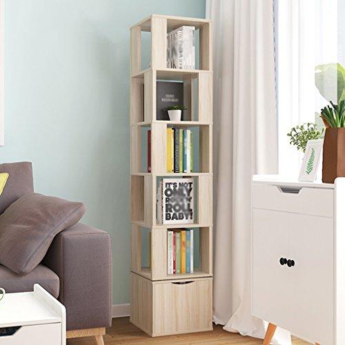 SUBBYE Einfache Multifunktions Wohnzimmer Bücherregal Stand Drehbare Student Bücherregal Kreative...