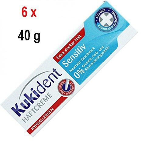 Kukident Super Haftcreme Sensitive - 6er Pack (6 x 40 g)
