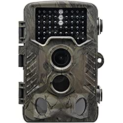 Cámara de vídeo digital de caza para grabadora de videocámara, Top Vigor Wild Innovations Cam de vigilancia de seguridad 16 MP 1080P 120 ángulo PIR sensor infrarrojos visión nocturna videocámara al aire libre Wildlife Scouting Tracker