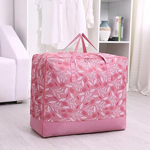 Xuan - Worth Another Motif Feuille Rose 3 Pcs Un Sac De Couettes Moisture Vêtements Quilts Sac Sac De Finition Boîte De Rangement (Taille : 60 * 50 * 28cm)