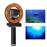 Orsda Underwater Photography Lighting Video Diving Light - 40M Waterproof 30 LED Diving lamp Video Light + Floating Hand Grip Handle for GoPro Hero 4 3+ 3 Sports Camera Black