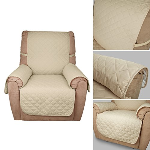 kinlo sofa abdeckung 1 sitzer 177 56 beige schonbezug 100 baumwolle f llung sehr weich sofa. Black Bedroom Furniture Sets. Home Design Ideas