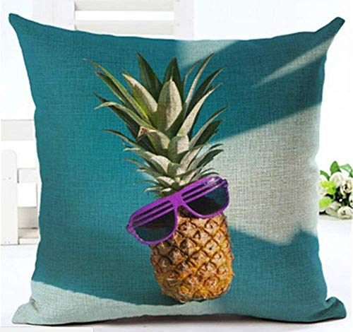 gthytjhv Wurfkissenbezugs, Fruit Pineapple Girl Cotton Square Decorative Throw Pillow Case Cushion Cover 18 inch X 18 inches -