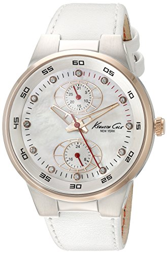 Kenneth Cole KC2862 38mm Stainless Steel Case White Calfskin Mineral Women's Watch