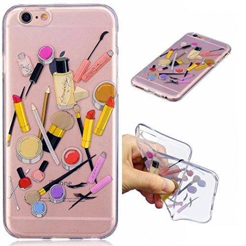 Cover iPhone 6 PLUS Silicone ultra trasparente sottile TPU morbido Custodia Modello di arte cover-panda cosmetico