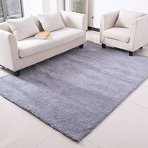 New day-Alfombra gris plata Living comedor alfombra piso dormitorio completo alfombra colchón baño antideslizante manta , silver , 1.4x2