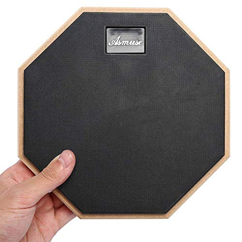 AsmuseTM Übungspad Schlagzeug 8 Zoll Practice Drum Pad -Grau