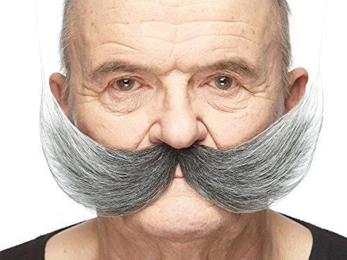 Mustaches Selbstklebende Fälscher Schnurrbart Neuheit Fisherman's Falsch Gesichtsbehaarung Kostümzubehör für Erwachsene Salz und Pfeffer Farbe