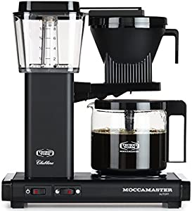 Moccamaster KBG 741 10-Cup Coffee Brewer with Glass Carafe, Matte Black by Technivorm Moccamaster