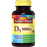 Nature Made - Vitamine D3 1000 IU - 300 Gélules liquides