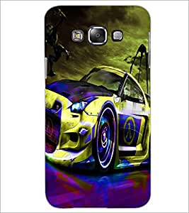 PrintDhaba Car D-3271 Back Case Cover for SAMSUNG GALAXY A7 (Multi-Coloured)