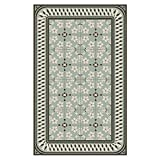 Beija Flor modern Almond Vinyl Floor mat