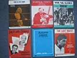 A LOT OF 60's SHEET MUSICX 6 -by RUSS CONWAY,DOROTHY SQUIRES,ROGER WHITTAKER etc