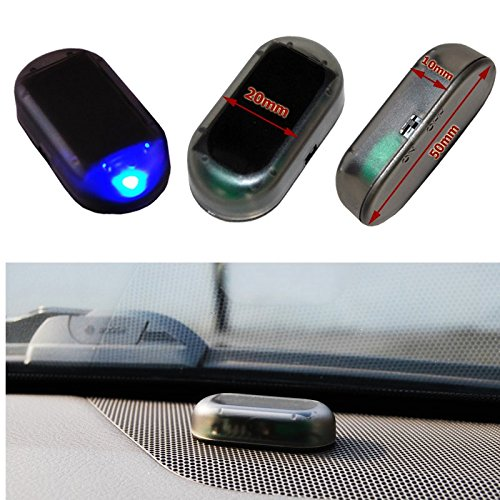 fake alarmanlage auto Auto Alarmanlage SOLAR LED Dummy Imitation Diebstahlsicherung Attrappe … (blau)