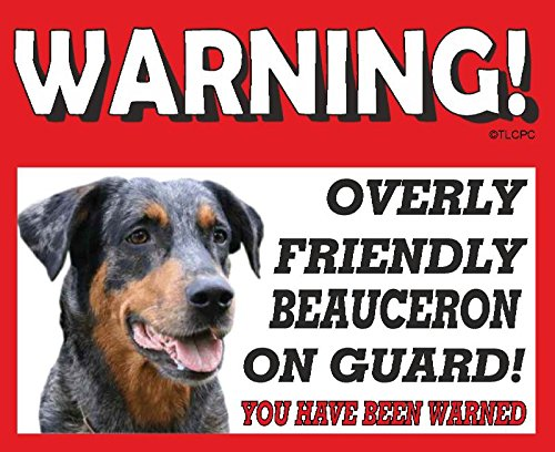 The Lazy Cow Beauceron GUARD DOG METAL SIGN 26