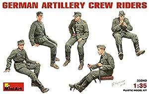 """MINIART Echelle 1: 35""""Cavaliers artillerie ALLEMAND Crew Kit de modèle en plastique"""