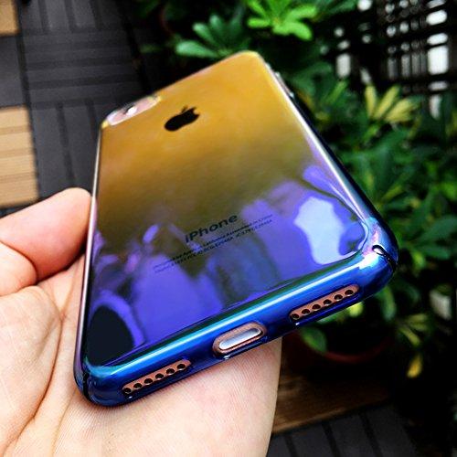 Custodia iPhone 7, iPhone 7 Cover Trasparente, SainCat Custodia in Hard Plastic Protettiva Cover per iPhone 7, 360 Gradi Full Body 3D Design Custodia in Ultra Slim Transparent Case Ultra Sottile Custo Doro