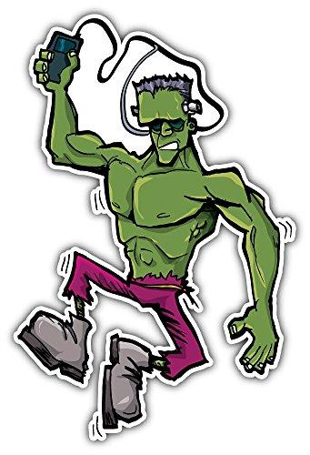 SkyBug Cartoon Frankenstein Monster Bumper Sticker Vinyl Art Decal for Car Truck Van Window Bike Laptop