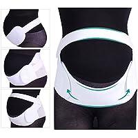 """Rovtop Embarazo cinturón, Fajas de Embarazo ,soporte abdominal y lumbar para mujeres embarazadas, elástico, cómodo, para Abdomen 42-50 """"/ 107-127 cm, color blanco"""