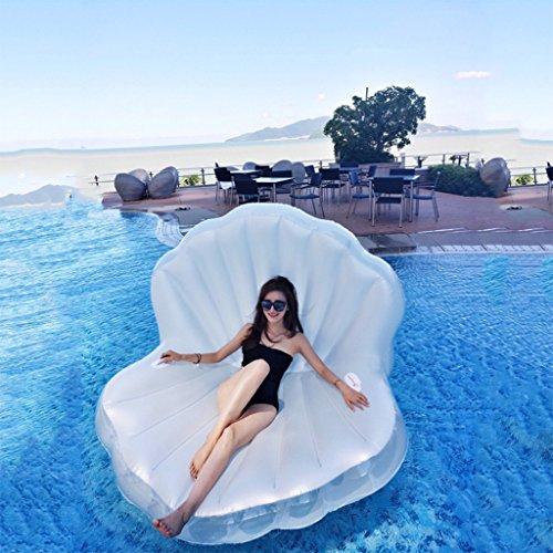 asbares Shellmuster Pool-Floss, Swimmingpool Im Freien Floatie-Floss-Aufenthaltsraum-Spielzeug-Bett mit Schnellventilen Für Erwachsene, Kids170 * 130 * 110Cm ()