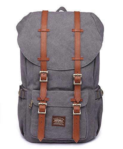 Rucksack Damen Herren Backpack Schulrucksack KAUKKO 17 Zoll Laptop Rucksack für 15