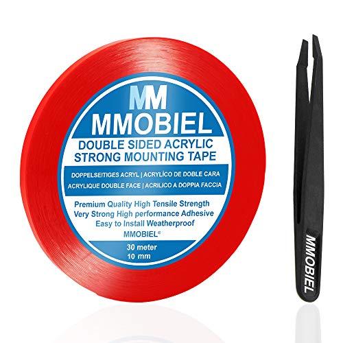 MMOBIEL 10mm Cinta adhesiva fuerte acrílico doble