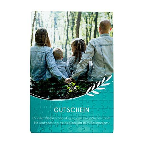 Geschenke.de Personalisierbares Gutschein-Puzzle mit Foto - individuelles Puzzle mit Bild - 120 Teile
