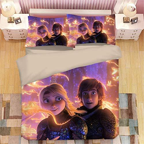 100% Mikrofaser 3D Nach Unten Cover Set (1 Bettbezug + 2 Kissenbezüge) Bettzeug Set Für Teen Boys Und Mädchen,Twin (Kids Twin Schlafzimmer Set)