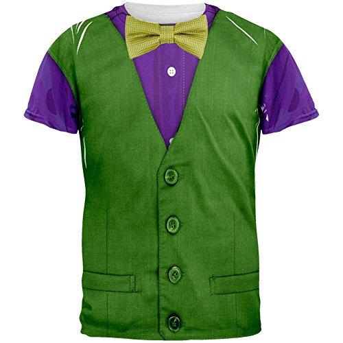 Mardi Gras grün und lila Weste Kostüm aller Erwachsenen T-Shirt Multi