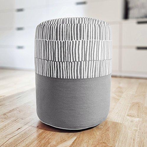 PILL - ZEBRA: Pouf, Fußbank, Fußstütze - Inspiriert von IKEA gestreiftem Stoff VENDLA (Zebra-zimmer-dekorationen)