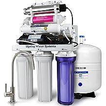 iSpring rcc1up-ak 7-stage máximo rendimiento para debajo de lavabo sistema de filtración de agua de ósmosis inversa con bomba Booster, alcalinas remineralization Filtro y UV Esterilizador