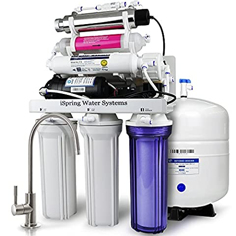 iSpring RCC1UP-AK 7-Stage Maximum Performance Under-Sink Reverse Osmosis Drinking Water