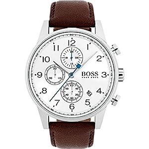Boss Herren-Uhren Analog Quarz Leder 32000893