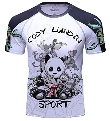 Cody Lundin Herren Mode Held Zeichen Logo bunte Outdoor Sport Fitness laufen Kurzarm (XL, color-g) (Logo Zeichen Tee)