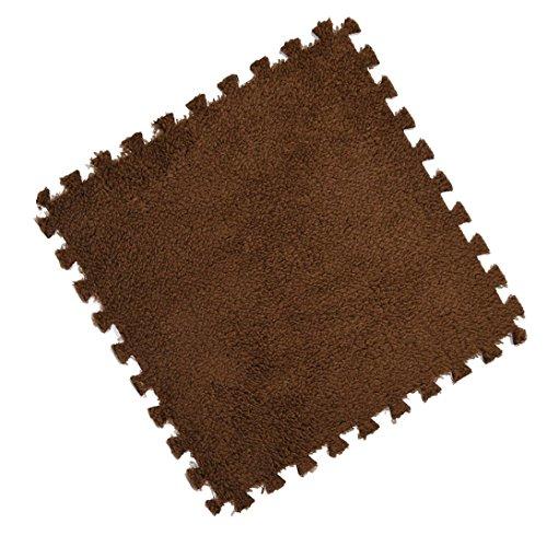 samLIKE teppiche,25 * 25 cm Kinder Teppich Schaum Puzzle Matte EVA Shaggy Samt Baby Boden 7 farben (C)