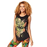 Zumba Fitness Damen Queen of The Jungle Long Tank Frauentops, Back to Black, XS