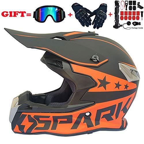 Casco Moto Fuoristrada Integrale Elmetti da Motocross Ideali,Casco Moto Professional Extreme Sport,Kit di caschi Unisex per personalità,HelmetCameraKit,XXL