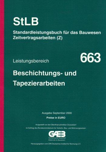 STLB-BauZ - Standardleistungsbuch für das Bauwesen (StLB) - Zeitvertragsarbeiten (Z) / Beschichtungs- und Tapezierarbeiten: Mit Preisen in Euro