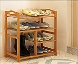 YLLXJ Estante de zapatos de bambú Listones Ensamblaje de hogar Hogar Shoebox Tipo económico Banco de zapatos Estante de almacenamiento de zapatos de bambú 100% natural (Tamaño : A1)