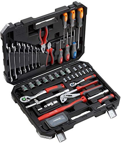 Meister Werkzeugkoffer 76-teilig - Werkzeug-Set - Für Haushalt, Garage & Werkstatt / Profi...