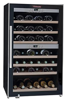 La Sommeliere ECS70.2Z 2 Zone 66-Bottle Wine Cooler with Digital Display, Transparent from La Sommeliere