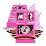 Best Gifts & Decor Friend Frame Two Pictures - Tuelip Beautiful Boat Shape Table Clock with 2 Review