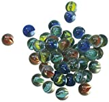 NEEZ Marbles Made of Glass Traditional Toys, Solitaire Puzzles Board Games marbles, Arcade & Table Games, assorted glass marbles, Come in a Net, Pack of 50/100/200 Pieces (Pack of 40 Marbles-Colour)