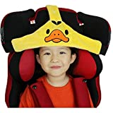 MINGZE Seggiolino auto per bambino, supporto per la testa del seggiolino auto, posizionatore per il sonno sicuro e accogliente, cintura di fissaggio regolabile per cintura di sicurezza (Giallo)